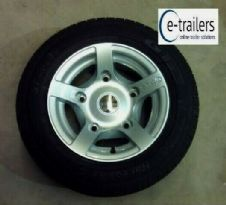 "195 60 12 GT TRAILER TYRE - STARCO ALLOY WHEEL 5 STUD 6.5"" PCD - IFOR WILLIAMS"